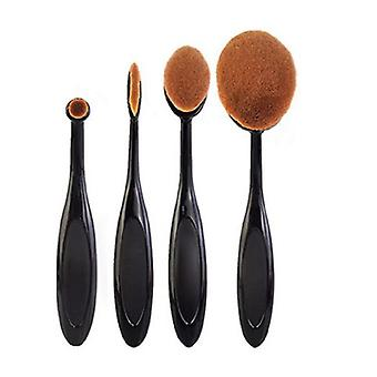 TRIXES Set di 4 pennelli di make-up nero di lusso per bene anche la copertura