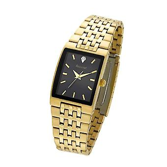 Accurist wrist watch, analog, male, stainless steel, gold