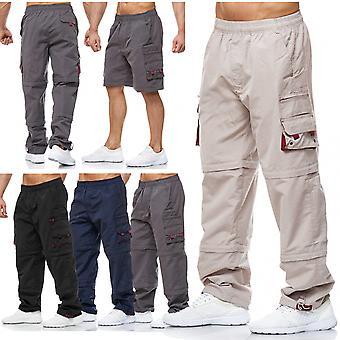 Men's Cargo Pants Zip 3/4 Uni Shorts Short Bermuda 7/8 Cargohose 3 Lengths