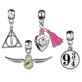 Harry Potter trailer 1 4 pezzi, d'argento, metallo, sulla carta di backer.