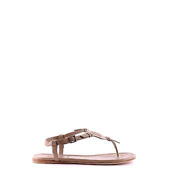 Moncler Beige Leather Sandals