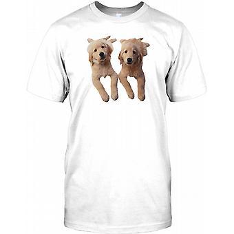 Golden Retreiver Puppies - Cute Pet Dog Kids T Shirt