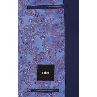 Dobell Mens Dark Blue Suit Jacket Tailored Fit Notch Lapel