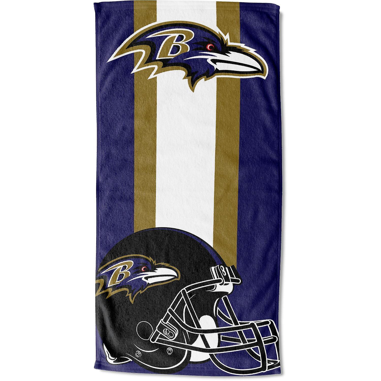 Toalha de praia do noroeste da NFL 76x152cm zona Baltimore Ravens