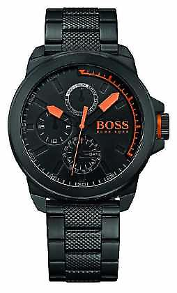 Hugo Boss Orange Mens Black IP Black Dial 1513157 Watch