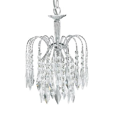 Searchlight 4271-1 Waterfall Shower Crystal Chandelier 1 Light Cut Chrome Frame