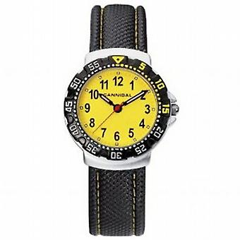 Cannibal Active Yellow Dial & Leather Strap Children's Watch CJ091-18