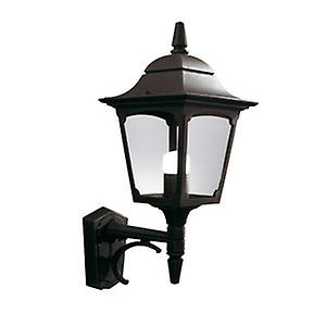 Elstead CP1 BLACK Chapel Traditional Outdoor Up Wall Light with 10 yr Warranty