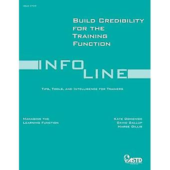 Build Credibility for the Training Function - 9781562864927 Book