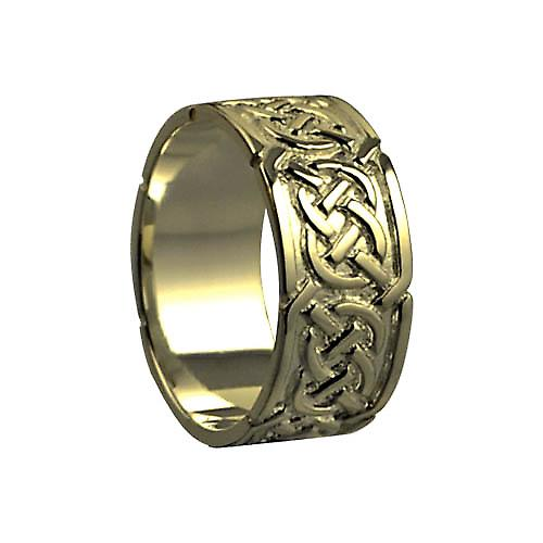 9ct Gold 8mm Celtic Wedding Ring Size Q