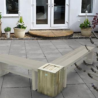 Forest Garden Double Sleeper Bench Planter & Table