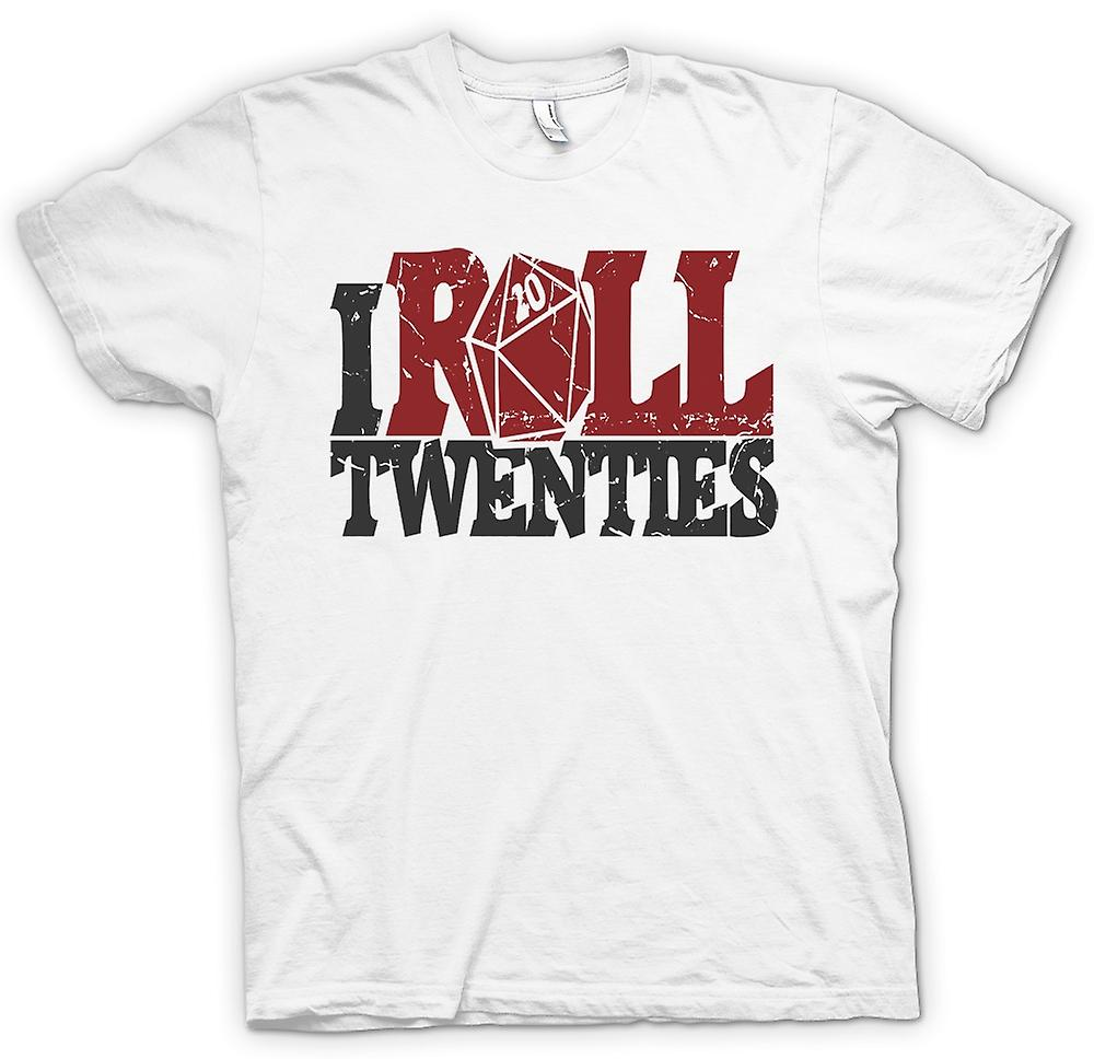 Womens T-shirt - I Roll Twenties - Dungeons And Dragons