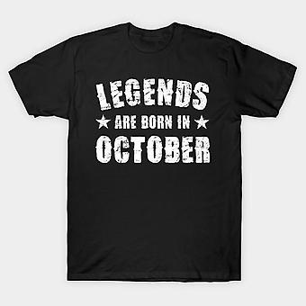 Legends are born in october half sleeves t-shirt