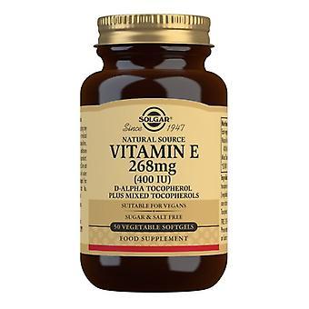 Solgar Vitamin E 268mg (400iu) Vegetarian Softgels 50 (3546)