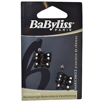 Babyliss Butterfly Claw Clips Pack of 2 Black with Gems
