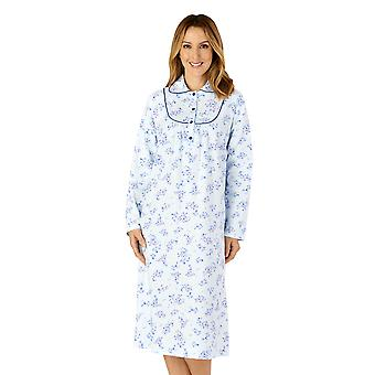 Slenderella ND4211 Women's Woven Floral Cotton Nightdress