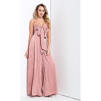 Pink flare jumpsuit