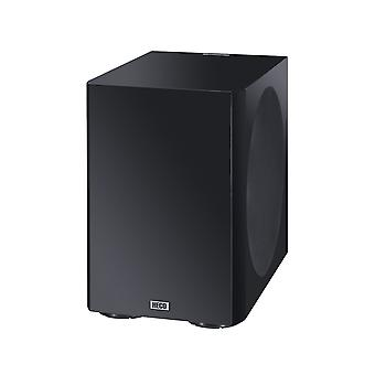 Heco Elementa sub 3830A, compact active subwoofer with 38-cm bass radiator, black/satin finished, new