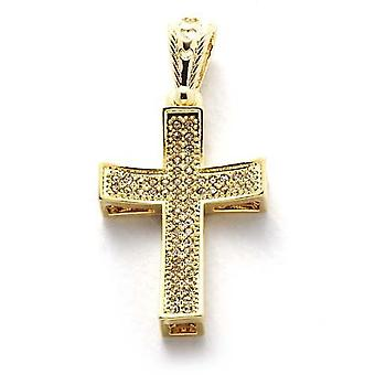 Necklace with pendant beautiful gold cross