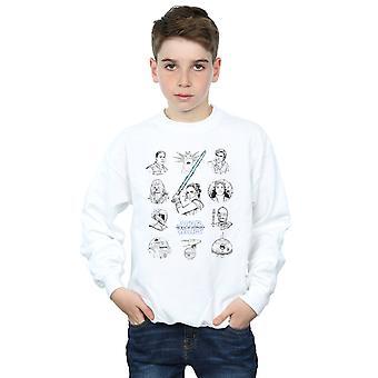 Star Wars The Rise Of Skywalker Resistance Charcter Line Up Mono Boys Sweatshirt