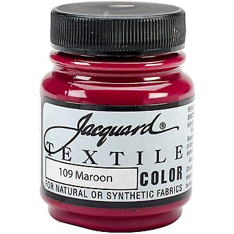 Jacquard Textile Color Fabric Paint 2.25oz-Maroon TEXTILE-1109