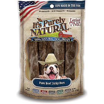 It's Purely Natural Treats 4oz-Beef Jerky Bars LP5221