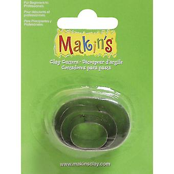 Makin's Clay Cutters 3 Pkg Oval M360 5