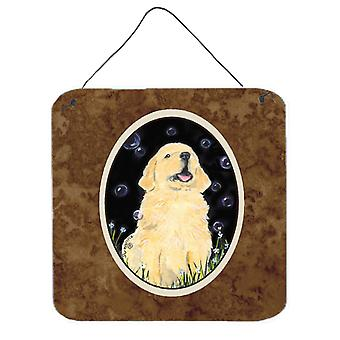 Golden Retriever Aluminium metalen wand of deur hangen Prints