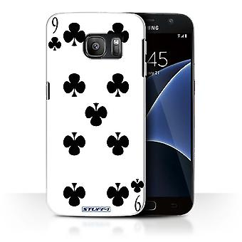 STUFF4 Case/Cover for Samsung Galaxy S7/G930/9 of Clubs/Playing Cards