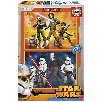 Educa Puzzle Star Wars 2x48 Pieces (Kids , Toys , Table games , Puzzles)