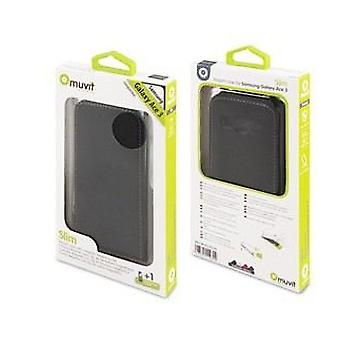 Muvit Sleeve Slim Black + Screen Protector Galaxy Ace 3