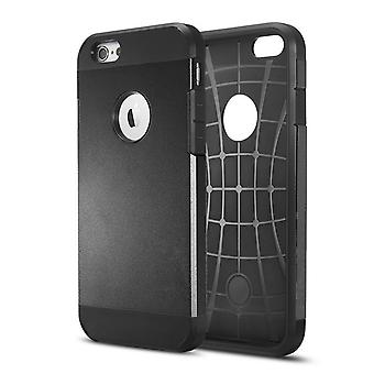 Cover 1 2:00 pm Ultra-durable TPU and hard plastic for iPhone 6 Plus 5.5 (black)