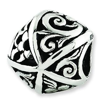 Sterling Silver Reflections Flowers and Vines Bali Bead Charm