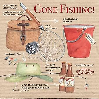 Gone Fishing Poster Print by PS Art Studios