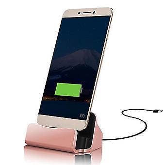 ONX3 (Rose guld) Huawei P10 Plus bordsladdare USB typ C Base utmärker Data Sync laddning dockningsstation