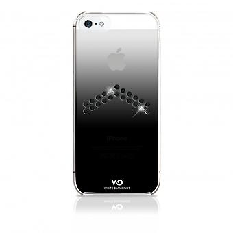 White DIAMONDS Shell Tinted iPhone 5/5s/SEE Arrow Black