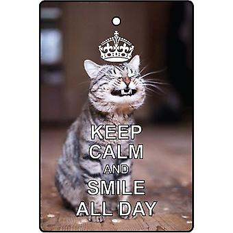 Keep Calm And Smile All Day Car Air Freshener