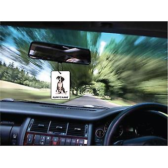 Personalised Boxer Puppy Car Air Freshener