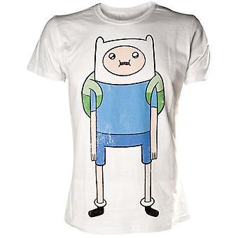 ADVENTURE TIME Finn Print Small T-Shirt, White (TS291118ADV-S)