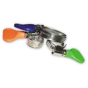 10 x rustfritt stål slange klipp Pipe klemmer Butterfly No skrutrekker trenger 8-60mm