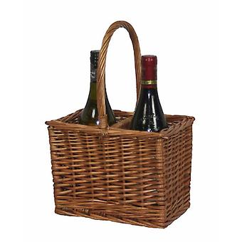 Double Steamed 2 Bottle Drinks Basket
