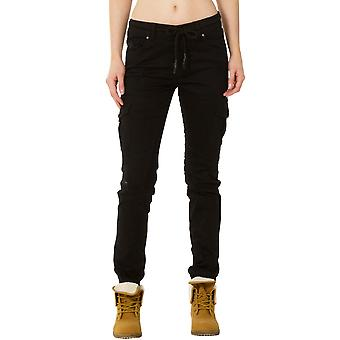 Ripped Distressed Cargo Pants - Black