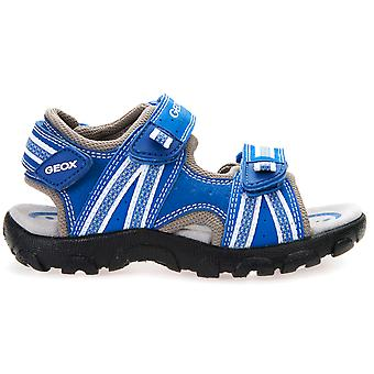 Geox pojkar Strada J4224A Sandals Royal Blue
