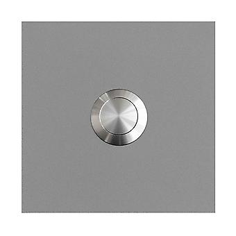 MOCAVI RING 115 stainless steel design ring white aluminum satin RAL 9006 square (7.5 x 7.5 x 2)