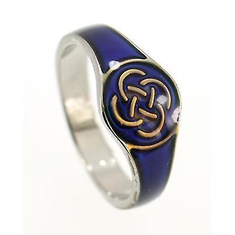 Buon bicchiere smaltato amore Celtic Knotwork #1 colore cambiamento umore anello