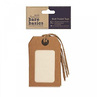 DoCrafts Bare Basics Kraft Pocket Tags***