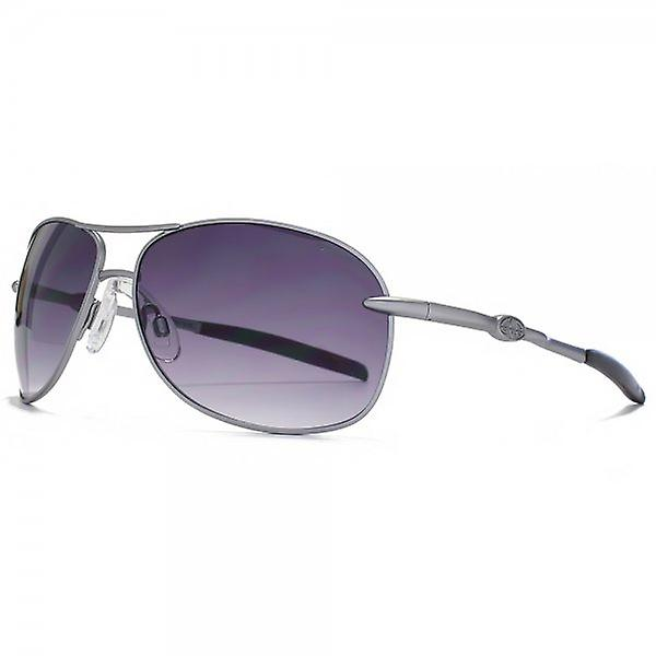 Animal Cork Metal Aviator Sunglasses In Matte Light Gunmetal