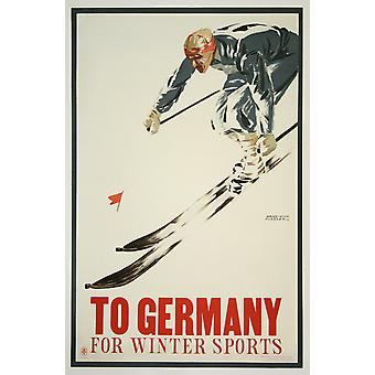 To Germany For Winter Sports Poster Print Giclee