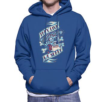 They Live We Sleep Skull Tattoo Men's Hooded Sweatshirt