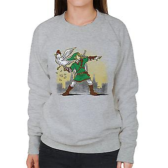 Lançador de cuco lenda de Zelda camisola mulher